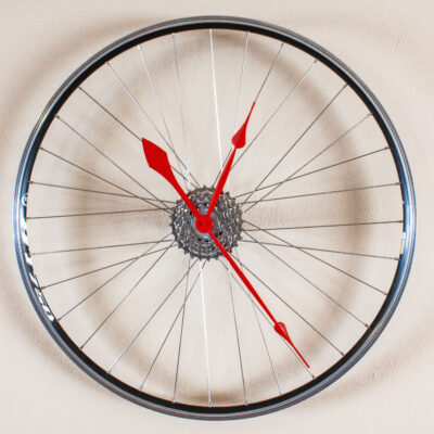 Recycled Speed Bike Wheel Clock