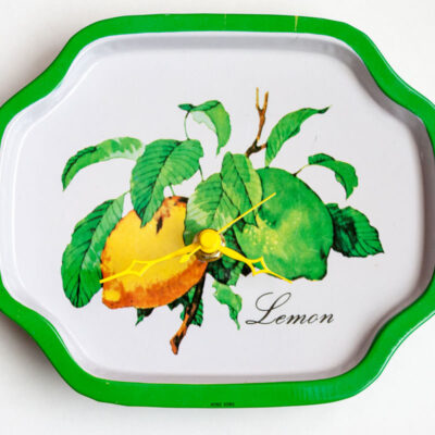 Lemon metal tray clock