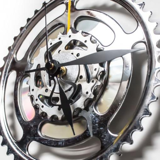 Large Bike Sprocket Clock side