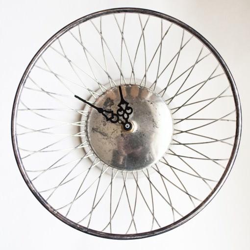 Antique Silver Plated Brass Breadbasket Dish Clock