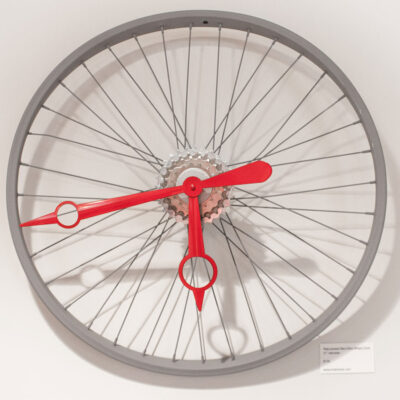 Repurposed Bent Bike Wheel Clock
