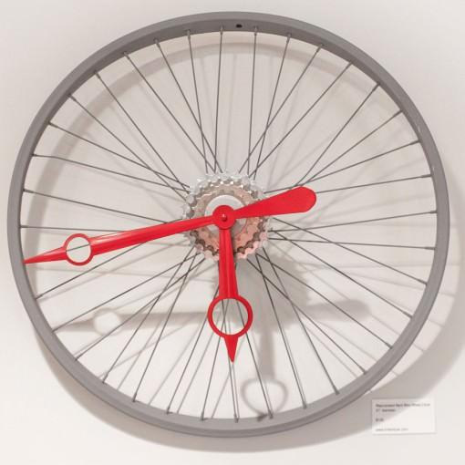 Repurposed Bent Bike Wheel Clock