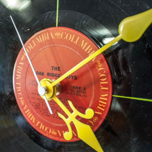 Red Record Clock zoomed