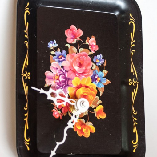 Vintage-Enamel-Tray-Black-Floral-angle