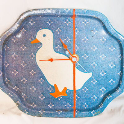 Vintage-Enamel-Tray-Blue-Duck
